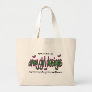 軍隊の女の子のデザイン-トート ラージトートバッグ