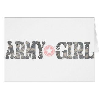 軍隊の女の子の迷彩柄 カード