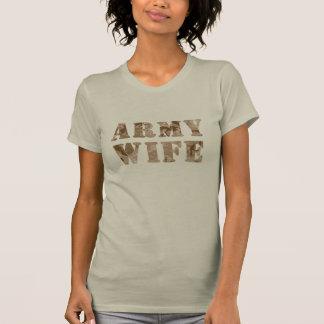 軍隊の妻の砂漠のカムフラージュ Tシャツ