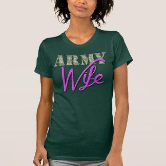 軍隊の妻、かわいいワイシャツ Tシャツ