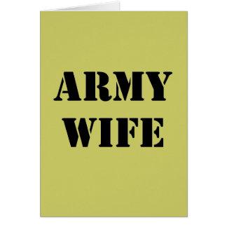 軍隊の妻 カード
