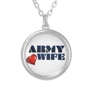 軍隊の妻 シルバープレートネックレス