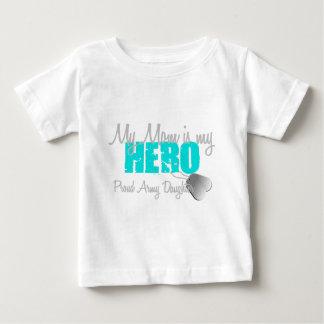 軍隊の娘のお母さんは私の英雄です ベビーTシャツ