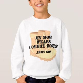 軍隊の息子のお母さんの砂漠の戦闘用ブーツ スウェットシャツ