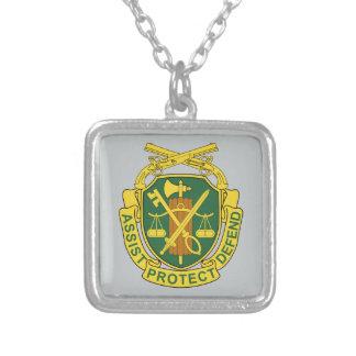 軍隊の憲兵隊 シルバープレートネックレス