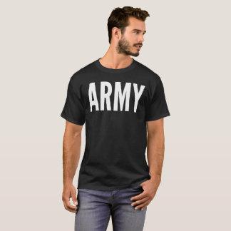 軍隊の文字のタイポグラフィのTシャツ Tシャツ