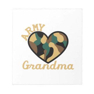 軍隊の祖母 ノートパッド