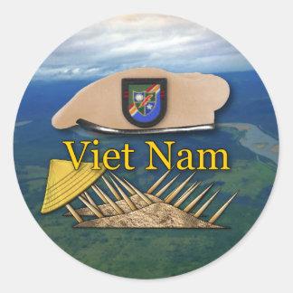 軍隊の空輸のレーンジャーの退役軍人のベトナムのステッカー ラウンドシール