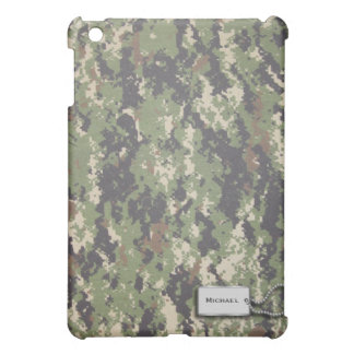 軍隊の緑およびブラウンデジタルの軍のカムフラージュ iPad MINIケース
