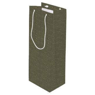 軍隊の緑の樹皮 ワインギフトバッグ