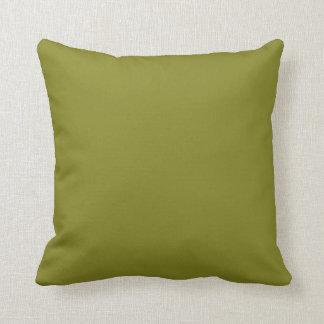 """軍隊の緑(""""あなたはないすきの後ろで""""色)の~ クッション"""