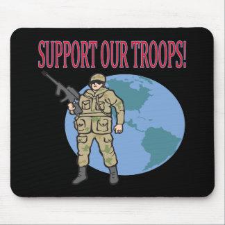 軍隊を支援 マウスパッド