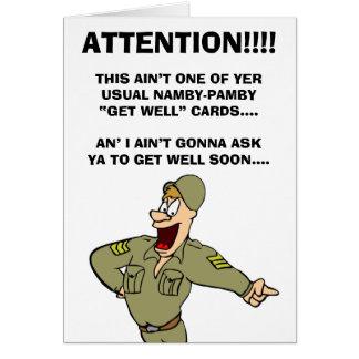 軍隊テーマ健康に今梳きますなって下さい カード