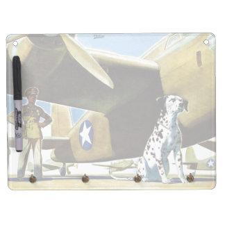 軍隊犬 キーホルダーフック付きホワイトボード