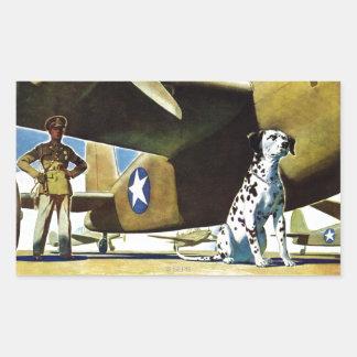 軍隊犬 長方形シール
