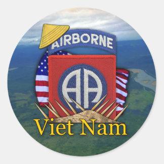 軍隊第82の空挺師団の退役軍人のベトナムの棒 ラウンドシール