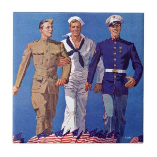 軍隊、海軍及び海兵隊員 タイル
