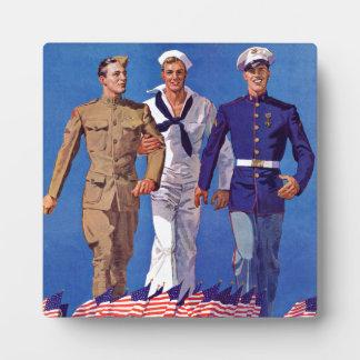 軍隊、海軍及び海兵隊員 フォトプラーク