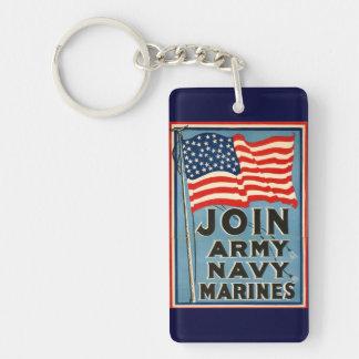 軍隊、海軍、販売のための海兵隊員WPA 1917年に加わって下さい キーホルダー