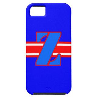 軍隊Zの手紙の青いiPhone 5/5SのVibe iPhone SE/5/5s ケース