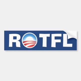 転がること 床 ROTFL 笑うこと オバマ バンパーステッカー