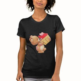 軸受けハート T-シャツ