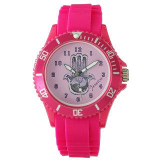 軽いおよび暗闇の木(紫色) 腕時計