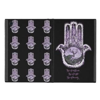 軽いおよび暗闇の木(紫色) iPad MINI ケース