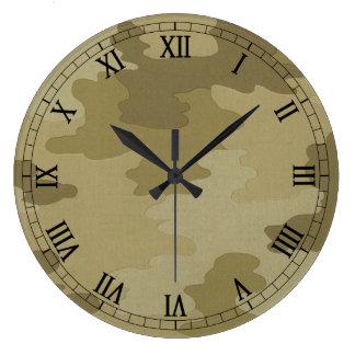 軽いカムフラージュの円形のローマ数字の時計 ウォールクロック