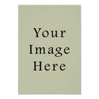 軽いカムフラージュの緑色の傾向のブランクのテンプレート 8.9 X 12.7 インビテーションカード