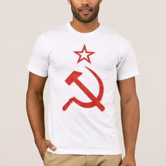 軽いティーのためのハンマー、鎌および星のソビエトロゴ Tシャツ