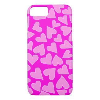 軽いハートのiPHONE 7/8の箱とのバービーの熱いピンク iPhone 8/7ケース