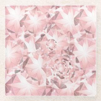 軽いパステル調の華麗のピンクのダイヤモンドの輝き ガラスコースター