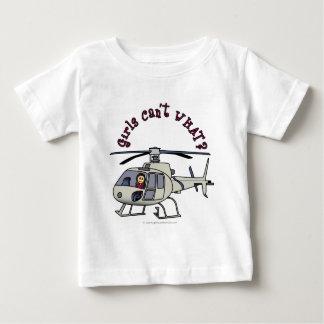 軽いヘリコプターのパイロットの女の子 ベビーTシャツ