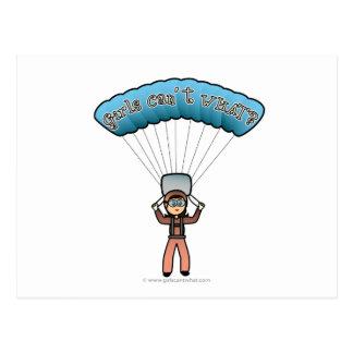 軽いメスの空のダイバー ポストカード