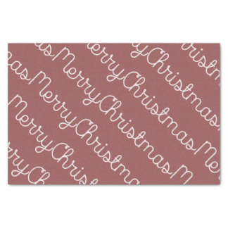 軽いメルローのメリークリスマスのティッシュの覆い 薄葉紙