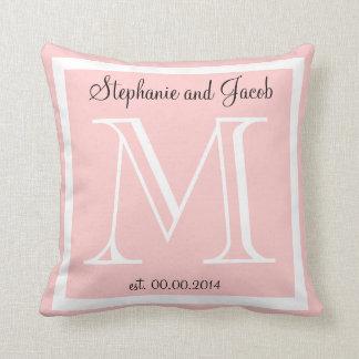 軽いローズピンクの結婚式の記念品の枕 クッション