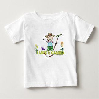 軽い人の農家のブルネットI愛2庭 ベビーTシャツ
