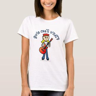 軽い女の子のギター奏者 Tシャツ