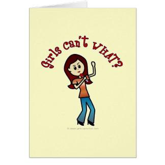 軽い女の子の歌手 カード