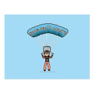 軽い女の子の空のダイバー ポストカード