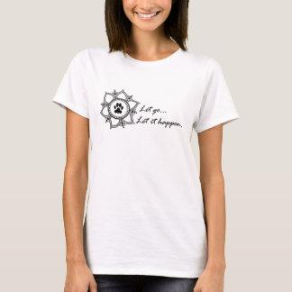 軽い女性は放しましたり、それを起こります…許可します Tシャツ