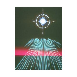 軽い急ぐ星。 (ライト; star_Space場面 キャンバスプリント