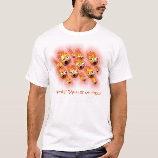 軽い服装のための素晴らしい炎の塊 Tシャツ