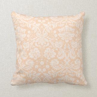 軽い杏子、モモのダマスク織パターン クッション