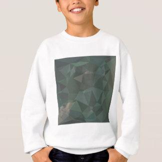 軽い海緑の抽象芸術の低い多角形の背景 スウェットシャツ