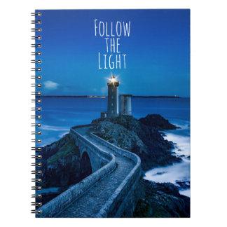 軽い灯台を後を追って下さい ノートブック