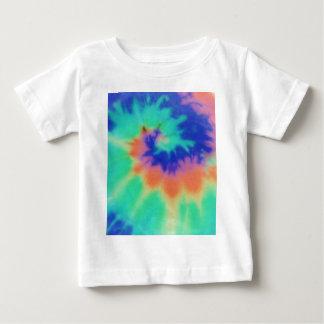 軽い絞り染めのファッション ベビーTシャツ