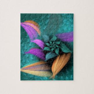 軽い緑の螺線形の花 ジグソーパズル