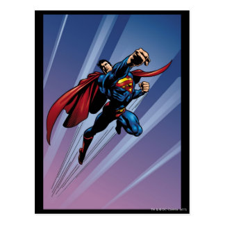 軽い縞を持つスーパーマン ポストカード
